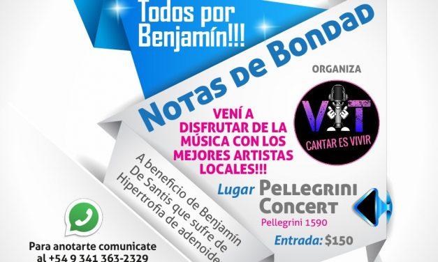Notas de Bondad, recital solidario por Benja