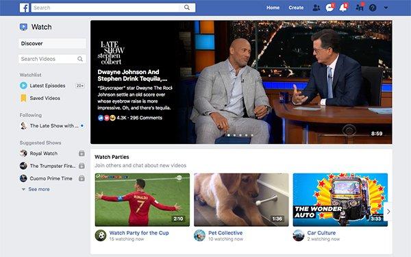 Llegó la hora: Facebook presentó su plataforma Watch