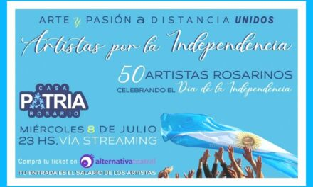 Función de Artistas por la Independencia vía streaming