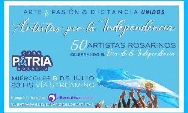 Función de Artistas por la Independencia vía streaming